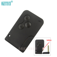OkeyTech Smart Remote Key Card 433 MHz ID46 7947Chip For RENAULT Megane Scenic Replacement Fob Case