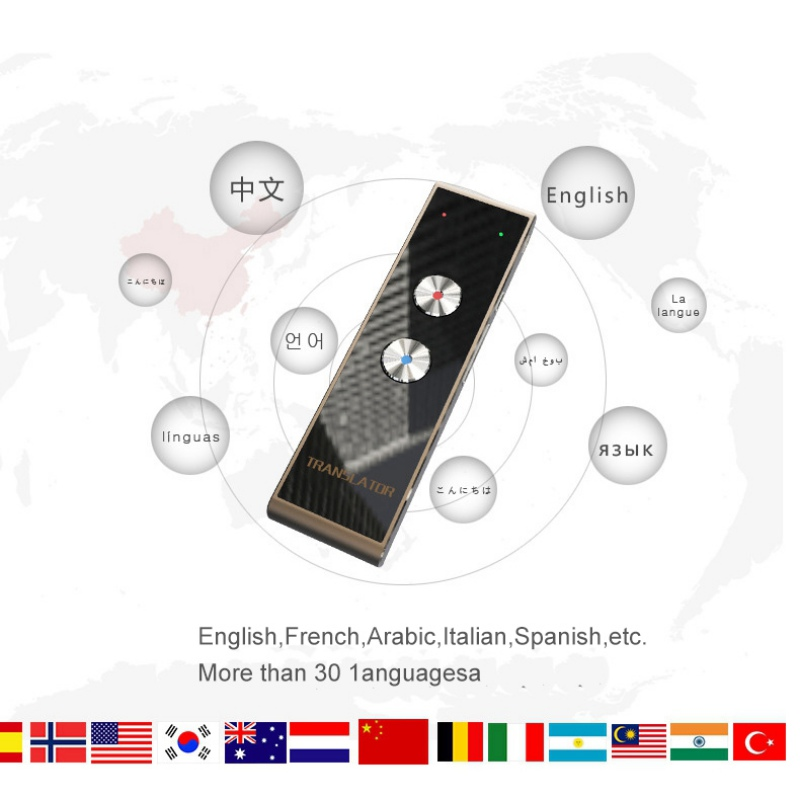 Portable Smart Speech Translator Two-Way Real Time 30 Multi-Language Translation For Learning Travelling Business MeetingPortable Smart Speech Translator Two-Way Real Time 30 Multi-Language Translation For Learning Travelling Business Meeting