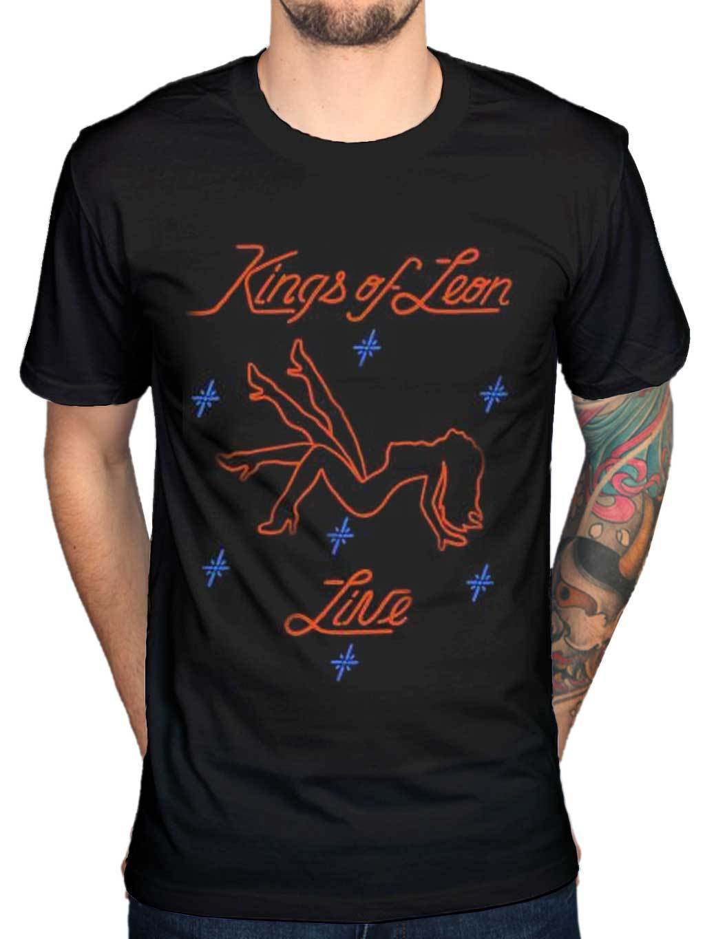 Official Kings of Leon Stripper T-Shirt NEW Licensed Merch Rock Band Sex On Fire Tee Shi ...