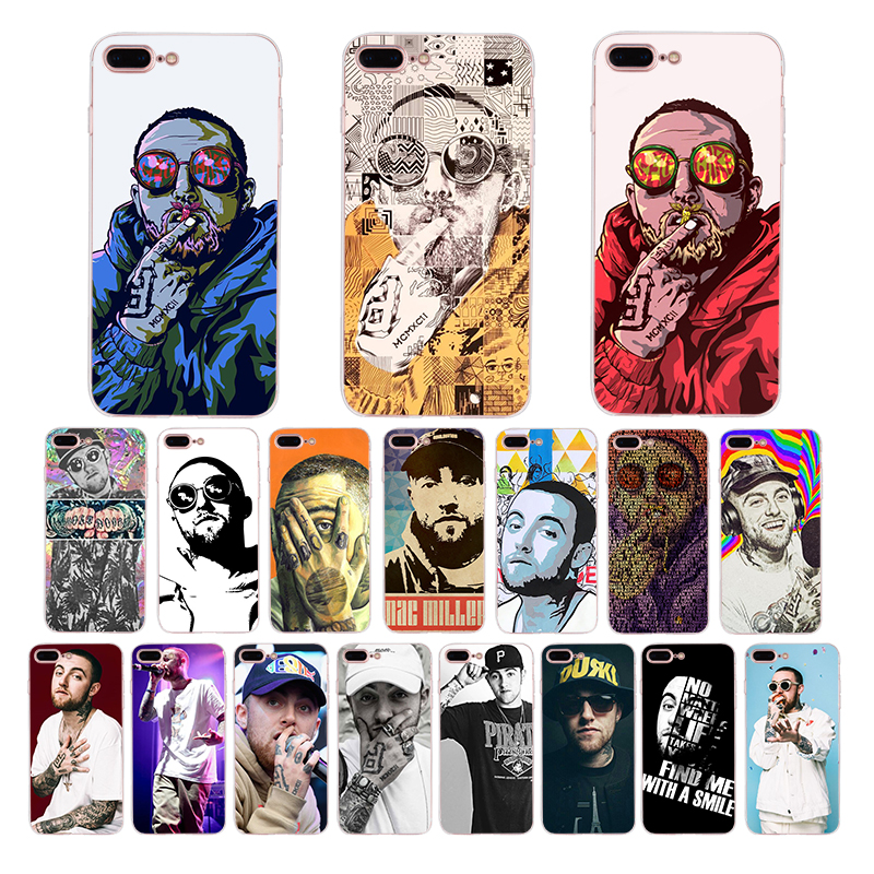 Mac miller Rapper soft mobile phone cases for Apple iphone xs max 5s 5 x xr 7 6 6s 8 plus se cover silicone case TPU shell Coque