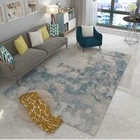 포스트 모던 아트 카펫 홈 인테리어 침실 카펫 소파 커피 테이블 플로어 매트 소프트 스터디 러그 직사각형 북유럽 러그 베드 사이드 매트