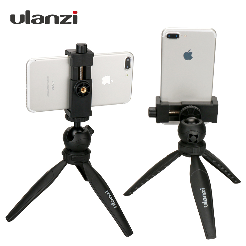 Ulanzi Mini Phone Tripod Tabletop Smartphone Mount Clip Holder Stand w Detachable Ballhead for iPhone X/8/7 Plus Huawei Xiaomi цена