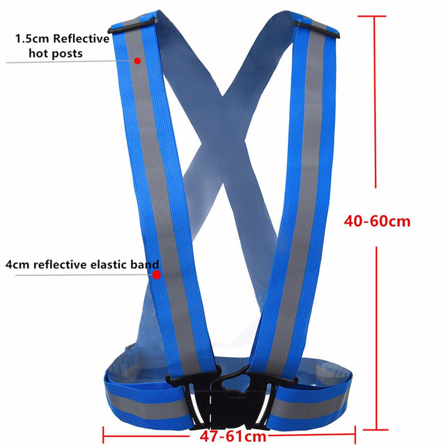 Reflective Safety Vest Belt For Women Girls Night Running