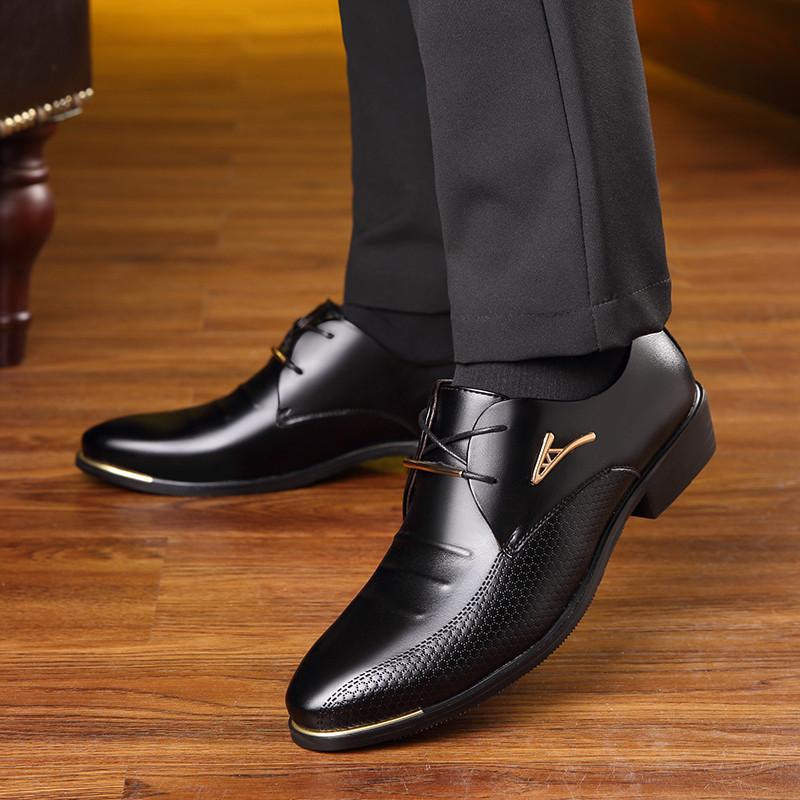 OSCO New Arrival Formal Derby Man Dress Shoes Male PU Leather Handmade Oxfords Luxury Brand Men's Bridal Wedding Fashion Shoes new arrival pointed toe derby man formal dress shoes luxury brand genuine leather male oxfords men s wedding bridal flats jd56