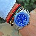 6mm Piedra Natural Beads Strand Pulseras de Acero de Oro Ocasional de Los Hombres joyería Red Granos de La Turquesa Pulseras y Brazaletes para Las Mujeres 2016 regalo