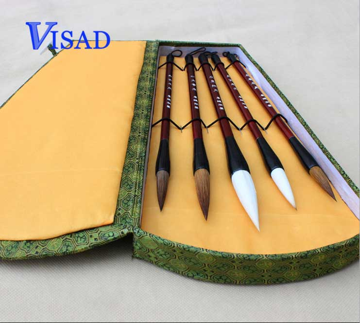 AA Chinese brush Calligraphy pen set high quality pure woolen weasel hair brushes Lian brush top grade high quality masters pen the fine quality goods of brushes boxed gift calligraphy brushes pen chinese brushes gift
