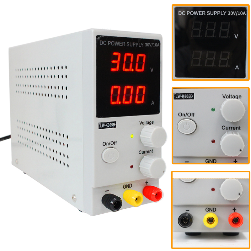 Mini Digital Regulated DC Power Supply K3010D Adjustable Switching Power Supply SMPS 30V 10A Variable Input 110V or 220V cps 3010ii 0 30v 0 10a low power digital adjustable dc power supply cps3010 switching power supply