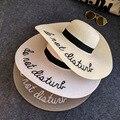 2016 Mujeres Del Verano Señoras Sol Sombrero de Ala Ancha de Paja Sombreros de Playa Plegable Al Aire Libre Sombreros de Panamá Sombrero Iglesia Hueso Chapeu Feminino
