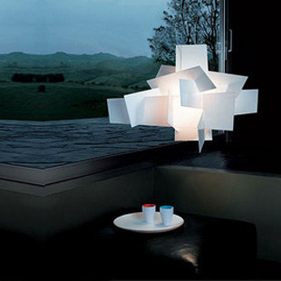Modern Hanging Foscarini Big Bang Chandeliers Light Fixture Art Lustres Lamp White Red color Acrylic Chandelier Lighting