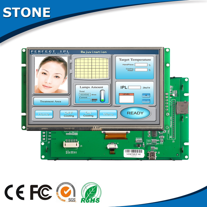 STONE 7.0 TFT LCD Control Panel + Touch Screen Used In Industrial Control Fields Support USB ProtocalSTONE 7.0 TFT LCD Control Panel + Touch Screen Used In Industrial Control Fields Support USB Protocal
