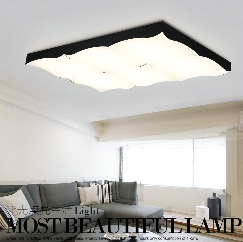 Modern LED acrylic flush mount ceiling lamp living room bedroom lighting lamparas de techo study room lamps free shipping ceiling lighting minimalist modern balcony study bedroom lighting led intelligent atmospheric living room dining room