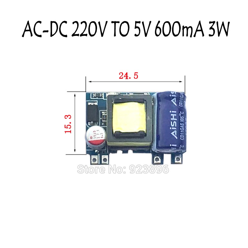 <font><b>220</b></font> to <font><b>5V</b></font> Small Volume Isolated Switching Power 5V3W <font><b>AC</b></font>-<font><b>DC</b></font> Supply <font><b>Module</b></font> Precision Buck X442 image