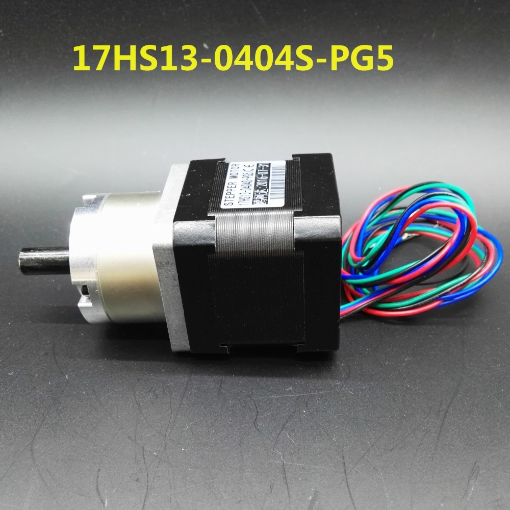ФОТО Gear ratio 5:1 Planetary Gearbox stepper motor Nema 17 Planetary Gearbox 3d printer motor 17HS13-0404S-PG5