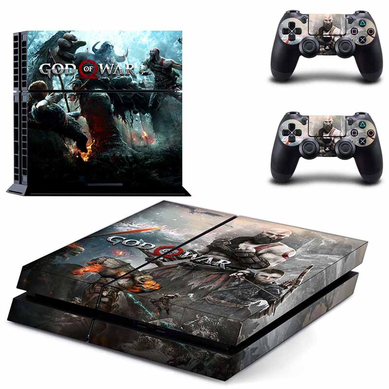 PS4 Full Skin Sticker Faceplates of God of War for Sony playstation 4 Console and Controller image