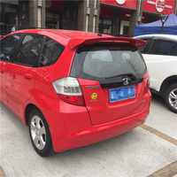 For Honda Fit/Jazz Spoiler 2008 2013 Car Tail Wing Decoration High Quality ABS Plastic Unpainted Primer Rear Trunk Roof Spoiler