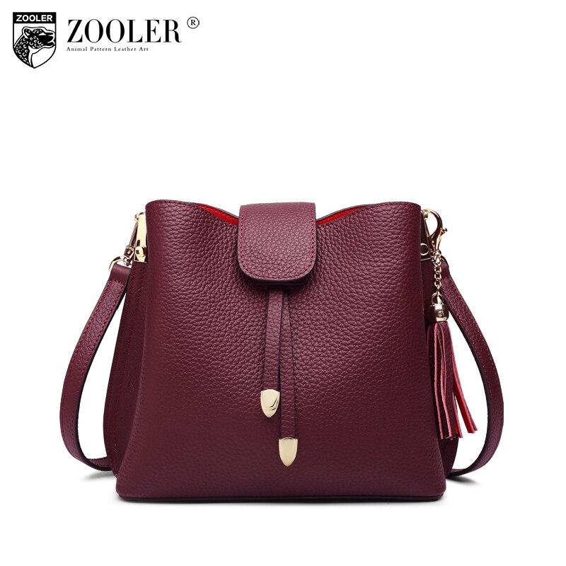 ZOOLER genuine leather bag luxury handbags women bags designer shoulder bag 2018 new fashion stylish totes #c123