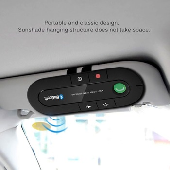Car Visor On-board Bluetooth Speakerphone Car Bluetooth Phone Bluetooth Hands Free Portable Wireless Bluetooth Earphone