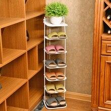 Cheap Continental Iron multi-layer shoe rack simple creative slippers small living room shelf six iron