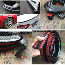 Universal DIY Rubber Soft Black Car Rear Spoiler 36mm Width 1.5m Length Exterior Rear Spoiler Decoration Moulding Trim Strips