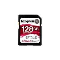Kingston Technology SD Canvas React, 128 GB, SDXC, Class 10, UHS I, 100 MB/s, Black