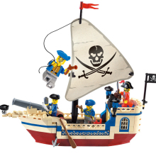 188 Pcs Pirates Of Caribbean Bricks Bounty Pirate Ship City Building Blocks Sets Toys for Children Digital building blocks недорго, оригинальная цена