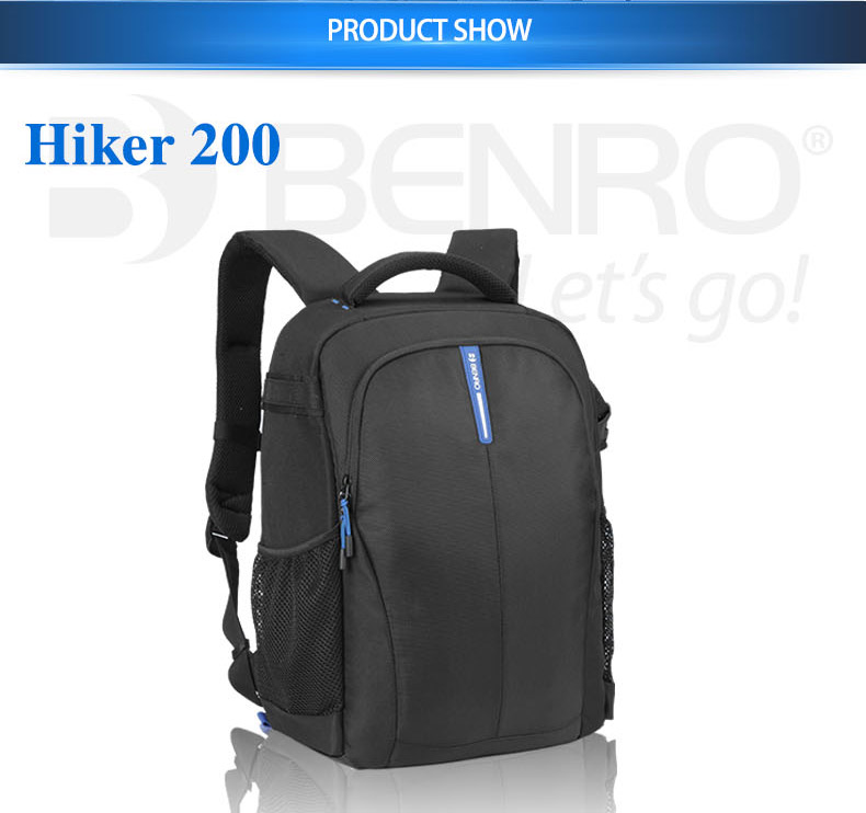 Benro Hiker Bag DSLR Backpack Notebook Video Photo Bags For Camera Backpack Large Size Soft Bag Video Case Rain Cover Free Ship