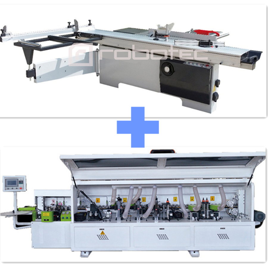 Big Promotion Sliding Table Panel Saw And Full Auto Edge Banding Machine For Sale