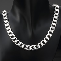 12mm 925 Silver Chain Necklace 26 28 30 Wholesale Women Necklaces Fashion Gift