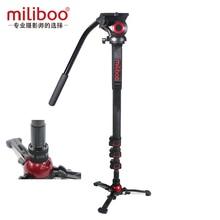 Milibooอัพเกรดอลูมิเนียมคาร์บอนไฟเบอร์Monopod MonopodไฮดรอลิกหัวMiniขาตั้งกล้องUnipodผู้ถือManfrotto Travel