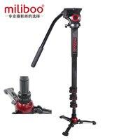 miliboo Upgraded Aluminum Carbon fiber Professional Monopod with Hydraulic Head Mini Tripod Unipod Holder Manfrotto Travel