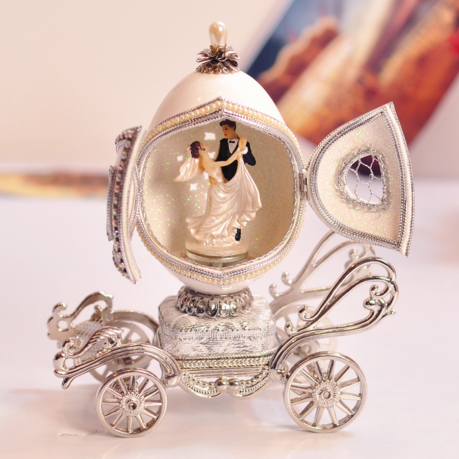 High Quality Deluxe Eggshell Carving Mini Music Box