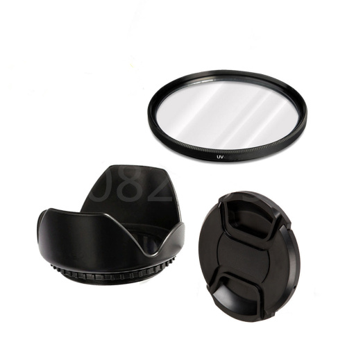 3in 1 комплект 52 мм УФ-фильтр для камеры + бленда объектива + колпачки для объектива Panasonic Lumix FZ330 FZ300 FZ200 FZ150 FZ100 FZ60 FZ62 FZ48 FZ47 FZ40