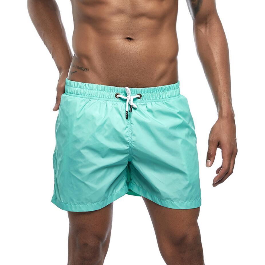 MAZF Quick Dry Swimming Shorts Swimwear Swim Trunks Bathing Beach Shorts with Pocket Wear Surf Briefs Board Shorts Red XXL