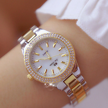 2019 Luxury Brand lady Crystal Watch Women Dress Watch Fashion Rose Gold Quartz Watches Female Stainless Steel Wristwatches new guou lady crystal rotation watch women luxury stainless steel dress watch fashion silver watches female quartz wristwatches