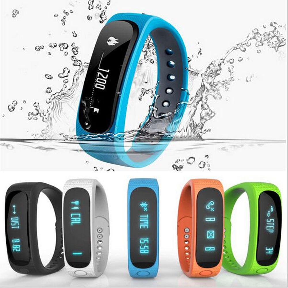 New E2 Smart Wristband Sport Fitness Tracker Bracelet Time Alarm Pedometer Sleep Monitor Smart Band for