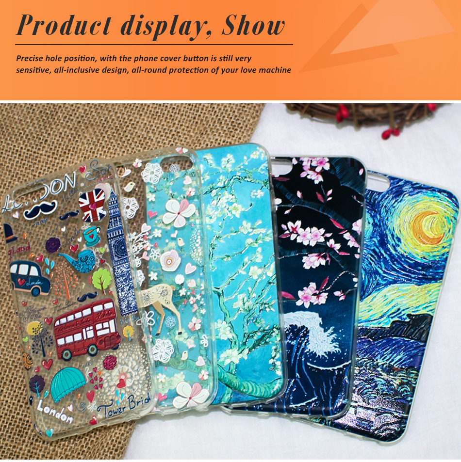 !ACCEZZ TPU Soft Cartoon 3D Protective Back Cover For Apple iphone 66s78 Plus Case Creative Patterned Phone Shell Funda Coque (19)