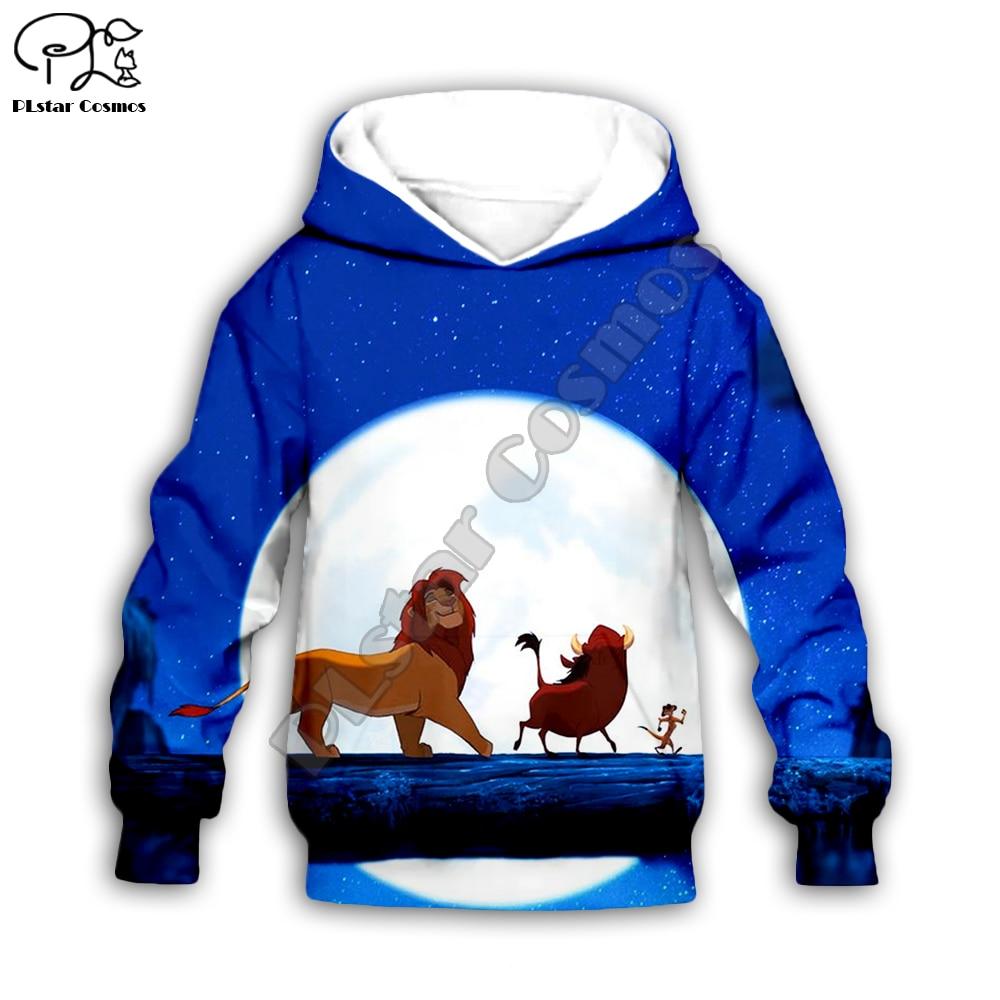 Simba The Lion King cartoon hoodie Kids baby 3D printed zipper hoodies Sweatshirts boy girl Long sleeve Harajuku streetwear pant in Matching Family Outfits from Mother Kids