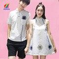 Hot casais roupas para os amantes do verão Designer mangas longas Tops doce bonito t-shirt impresso coreano casal combinando camisetas