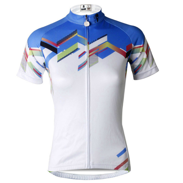 Women Summer Breathable Short Sleeve Bike Jerseys Cycling White Crewneck  Riding Clothing Size XS To 6XL 7def4312c