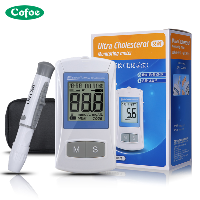 Medical Household On Call Blood Lipid Analyzer Test Cholesterol Blood Fat Meter Measurement Device with 25pcs Test Strips