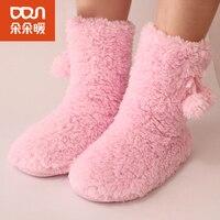 Autumn/Winter Socks Floor Adult Floor Female Socks Terry Socks Love Antiskid Socks Leg Warmers Thickening Of Sleep