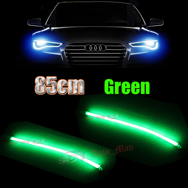 2x universal 85cm green daytime running lights flexible tube style 2x universal 85cm green daytime running lights flexible tube style led strips drl for car motorcycle mozeypictures Gallery