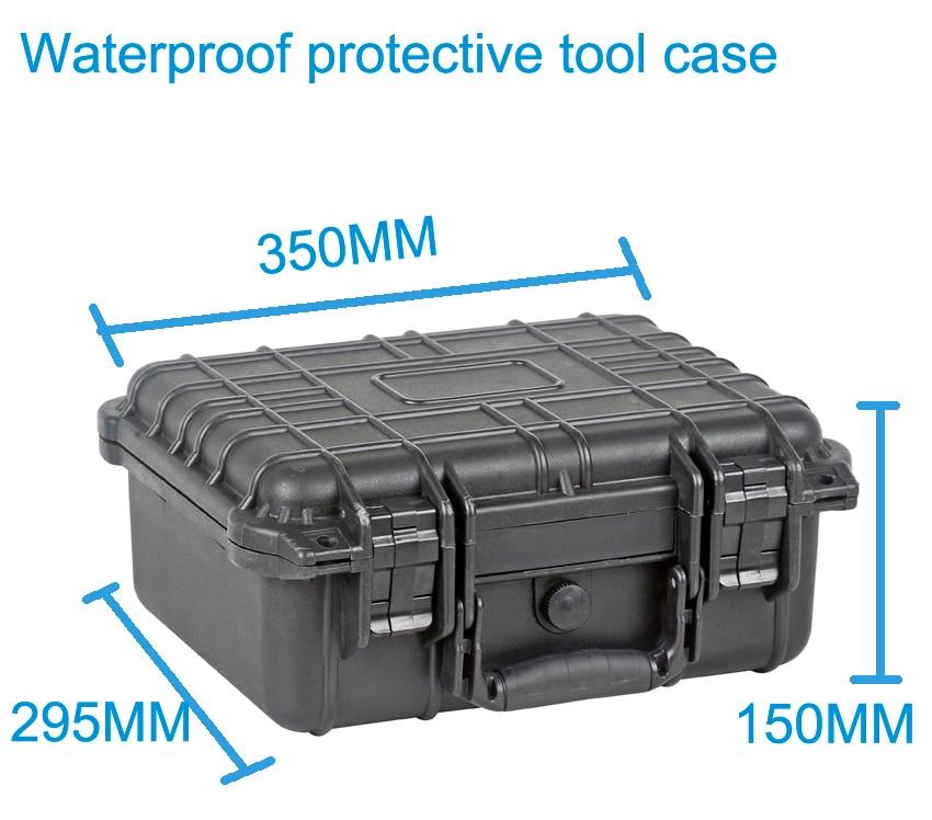 ФОТО Tool case toolbox suitcase Impact resistant sealed waterproof plastic case equipment box camera case Meter box with pre-cut foam