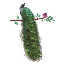 Животные Павлин на ветке перья наклейки на стену 3D яркие настенные наклейки домашний Декор художественная наклейка плакат животные Декор для гостиной No30