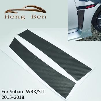 1 para z włókna węglowego błotnik nakładki naklejki dla Fit Subaru WRX STI 2015-2018 tanie i dobre opinie Wz heng China FRONT Fender Overlays Sticker 0 05kg