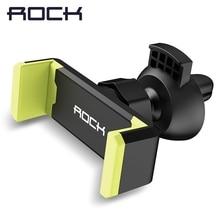 Soporte de teléfono ROCK para coche soporte de ventilación de aire soporte de coche para teléfono en coche soporte para teléfono móvil soporte para teléfono para iPhone Samsung S10 Huawei