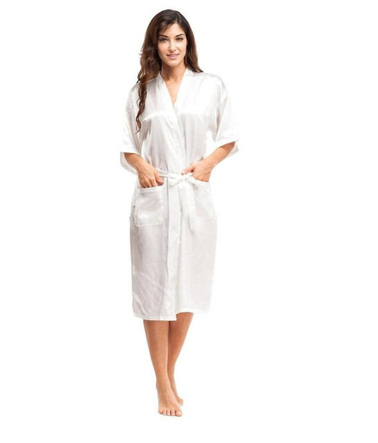 Summer New White Women Silk Rayon Sleepwear Chinese Style Long Robes Kimono Kaftan Bath Gown Oversize S M L XL XXL XXXL A-052