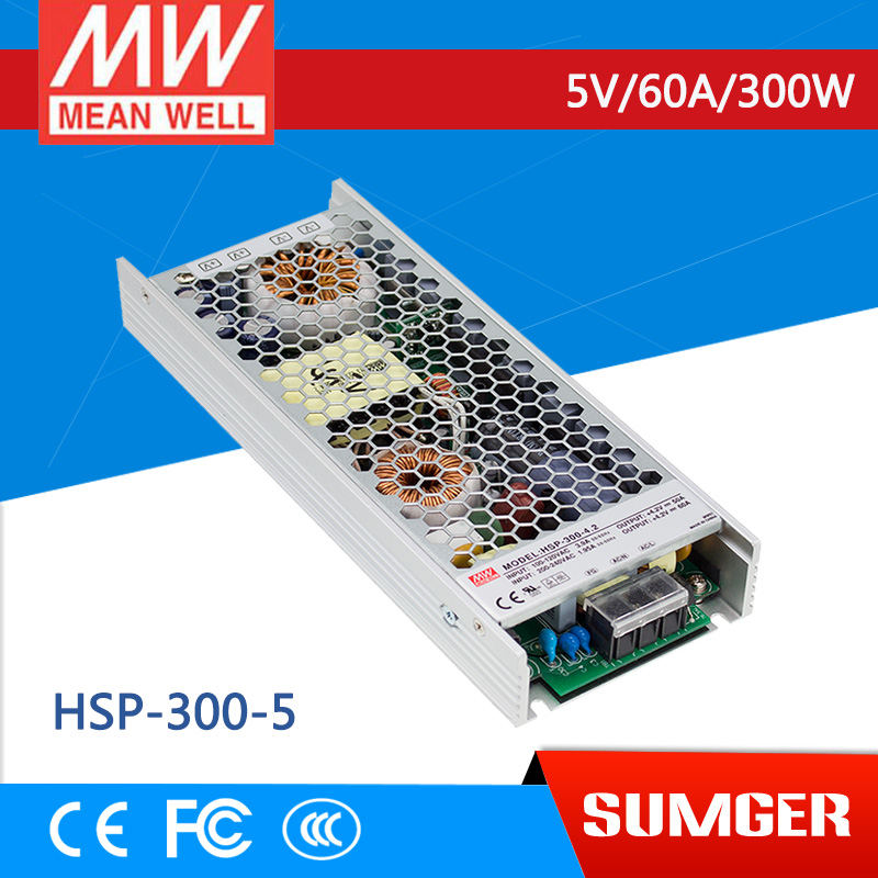 ФОТО [NC-B] MEAN WELL original HSP-300-5 5V 60A meanwell HSP-300 5V 300W Single Output with PFC Function Power Supply