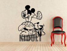 Mickey Mouse and Goofy Wall Sticker  Cartoons Vinyl Decals Home Interior Kids Girl Boy Room Nursery Art Decoration Mural