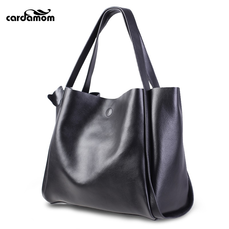 Cardamom Women Handbag Genuine Leather Shoulder Bag Female Bags Cowhide Portable Shopping Bag Vintage Large Capacity Tote Bolsos стоимость